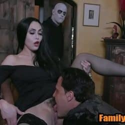 Adam's family taboo orgy – mom dad fuck son and daughter parody