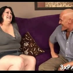 Busty bbw floozy screwed in all of her holes by chocolate dick