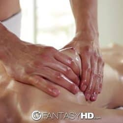 FantasyHD – Lubed up Destiny Love takes cock from behind