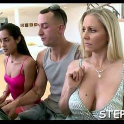 Large fellow fucks stepmom
