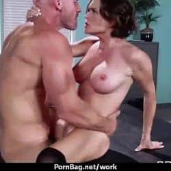 MOM Working MILF fucks her client 18