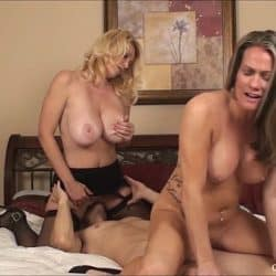 Big tit MILF Babe threeway with Charlee Chase