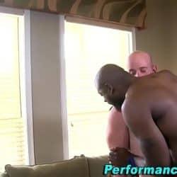 Black stud fucks and cums