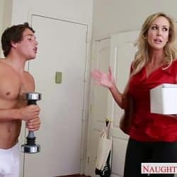 Busty blonde mom Brandi Love fucking