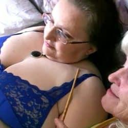 Chubby granny and old granny masturbating