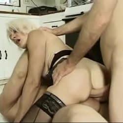 Mature granny Kathy Jones threesome