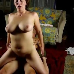 Busty mature babe sucks and fucks cock for a facial cumshot